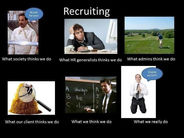 What People Really Really Think Recruiter Humor Hr Humor