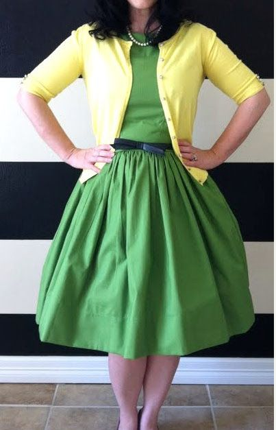 green and yellow, love the dress and color combo! | chi eta phi