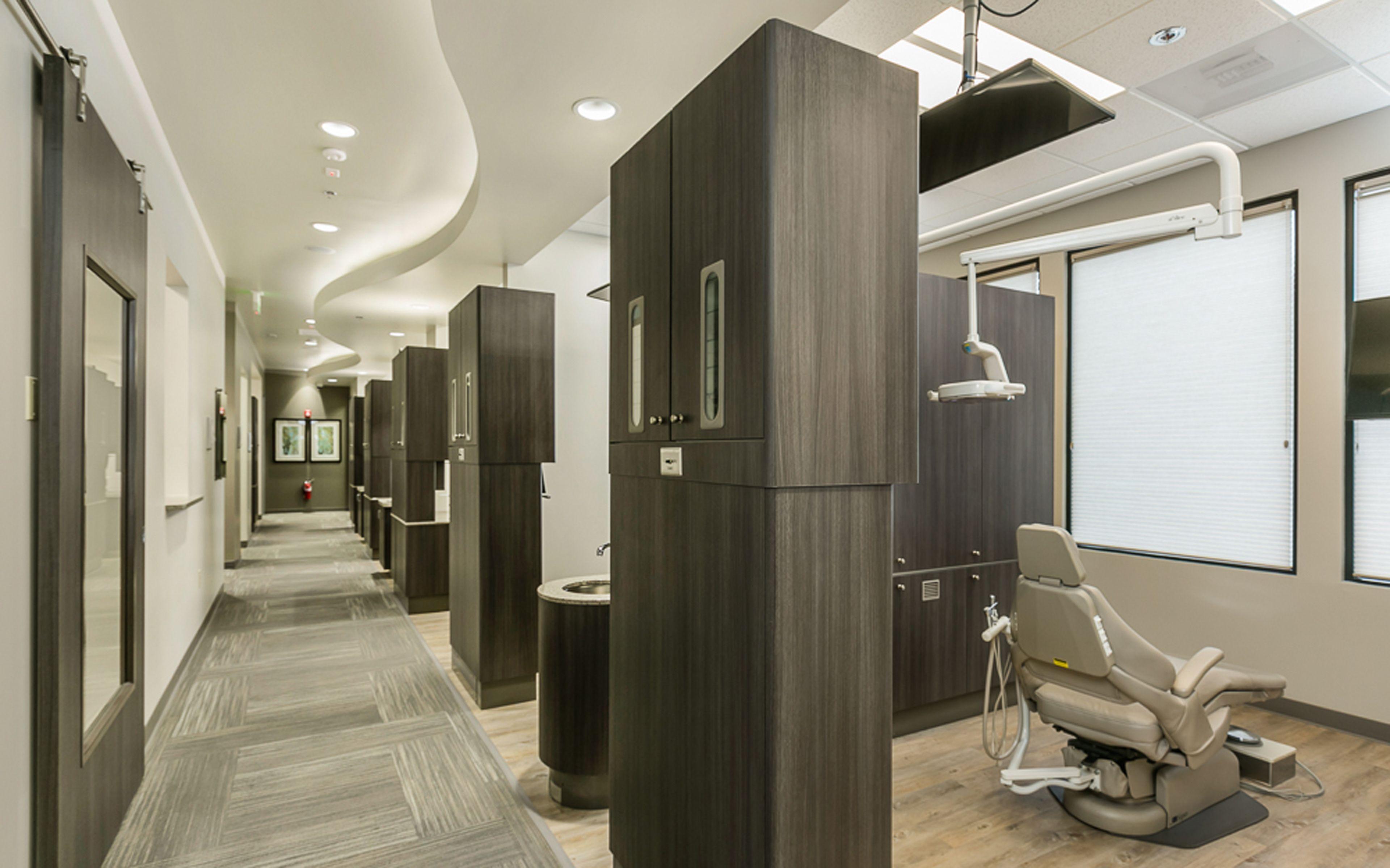 Office hallway lighting  Gresham Dental Group Gresham OR modern dental office design