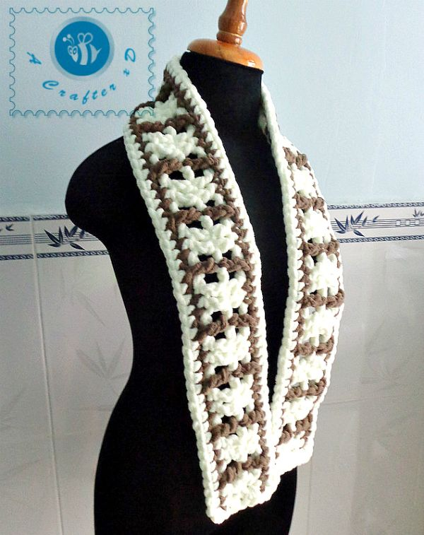 Ladder unisex scarf - The Yarn Box The Yarn Box | Crochet Winter ...