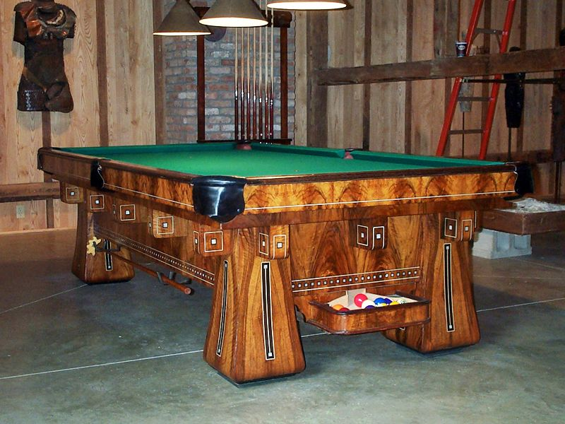 Superbe The Antique Reproduction Kling Pool Table Available At  Www.robbiesbilliards.com