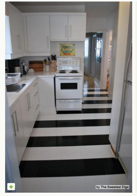 funky kitchen floor love it houzz tour quirky diy