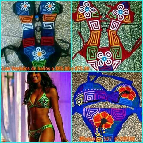 4f59266ed677 Vestidos de baño creados con molas hechas a mano | Molas y Folklore ...