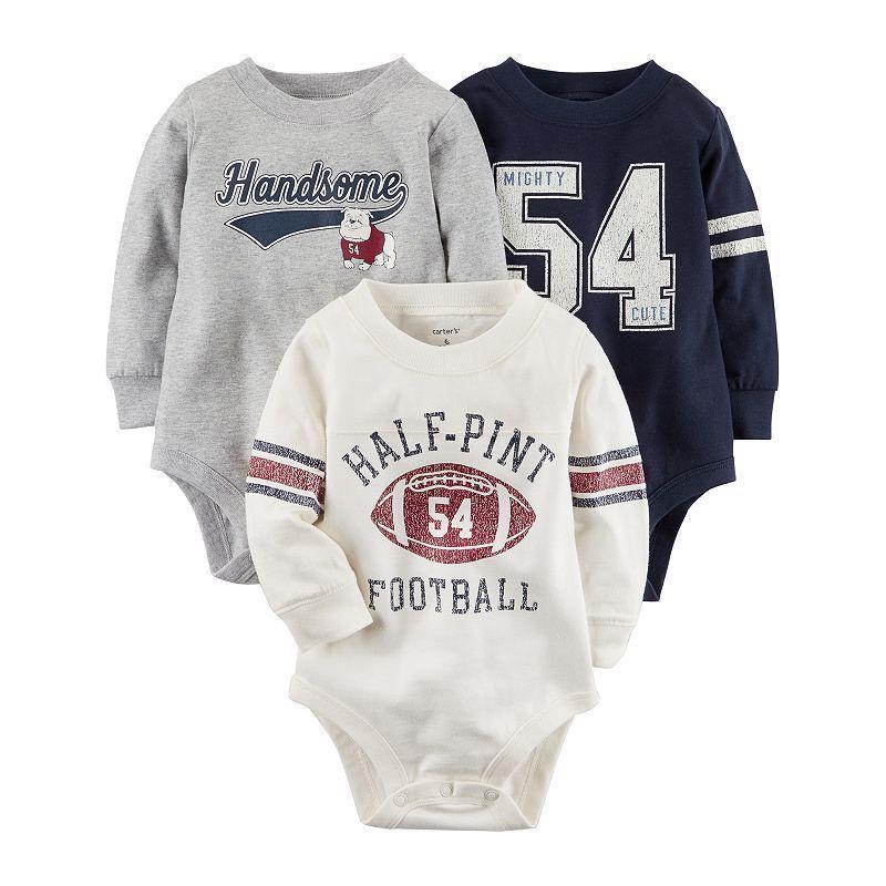 71063e84d5f3 Baby Boy Carter s 3-pk. Sporty Graphic Bodysuits