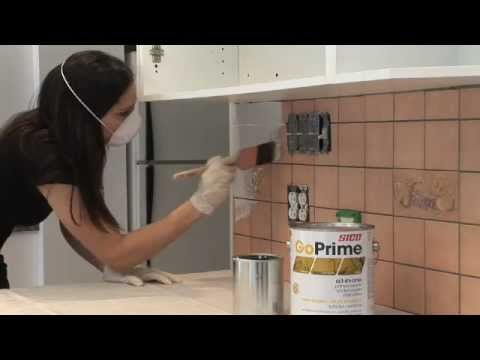 How To Paint The Kitchen Backsplash With Sico   Http://designmydreamhome.