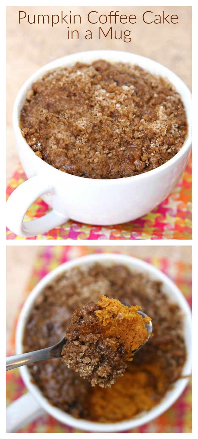 Pumpkin Coffee Cake in a Mug Recipe Pumpkin coffee