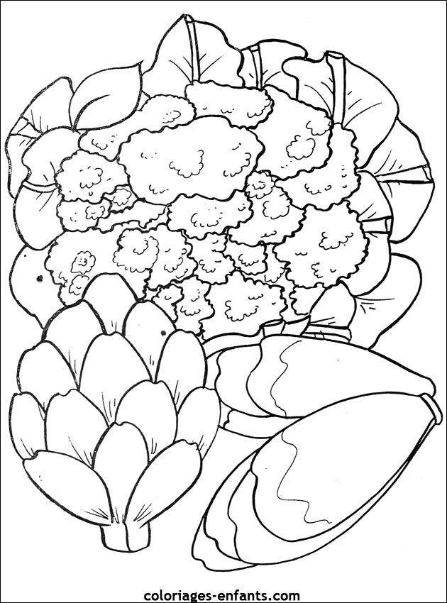 coloriages de fruits et légumes | DIBUJOS PARA COLOREAR, LABERINTOS ...