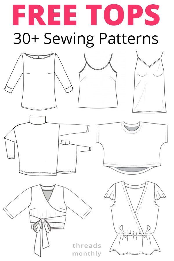 35 Gorgeous Free Sewing Patterns for Tops (Women)