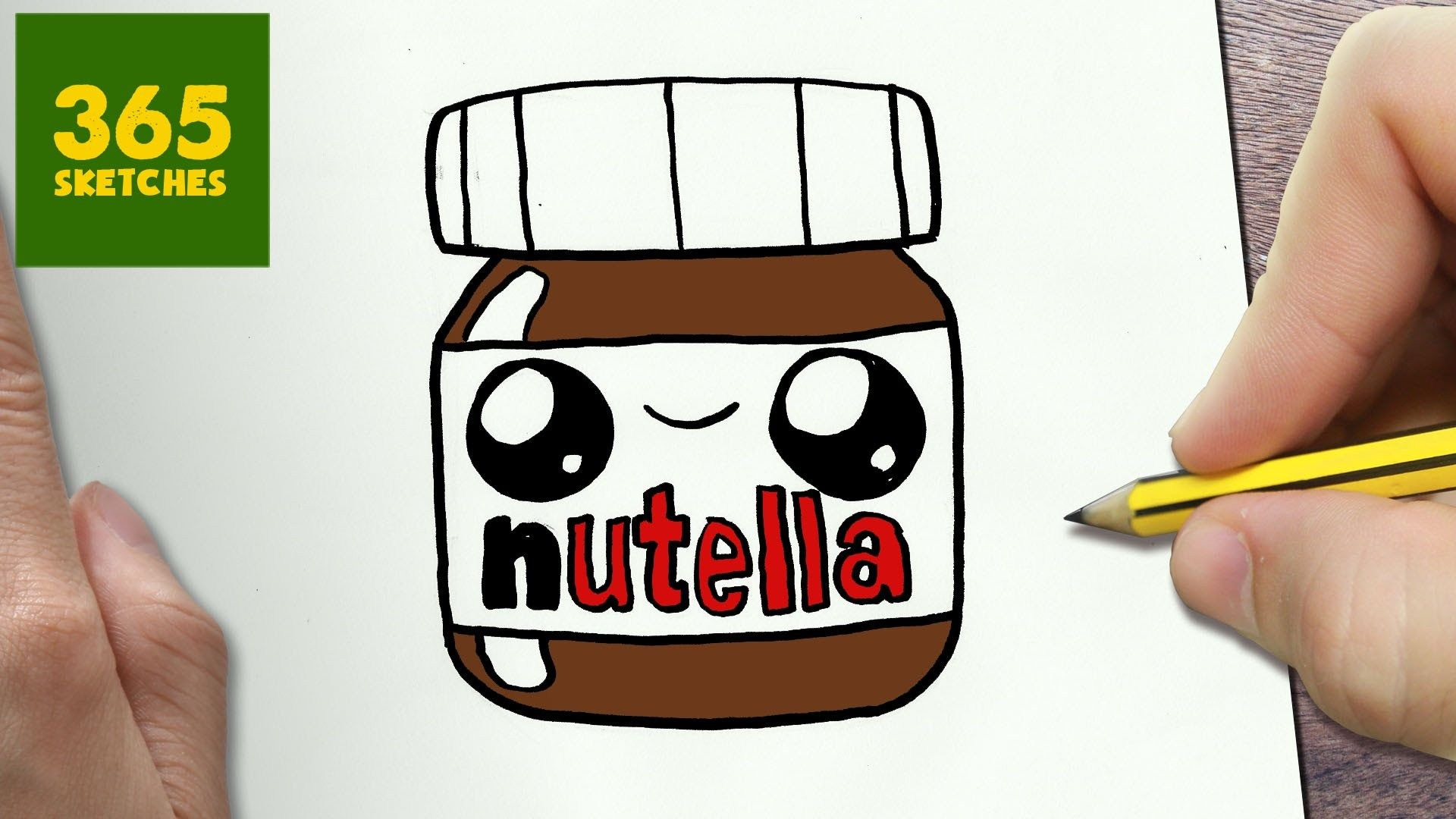How To Draw A Nutella Cute Easy Step By Step Drawing Lessons