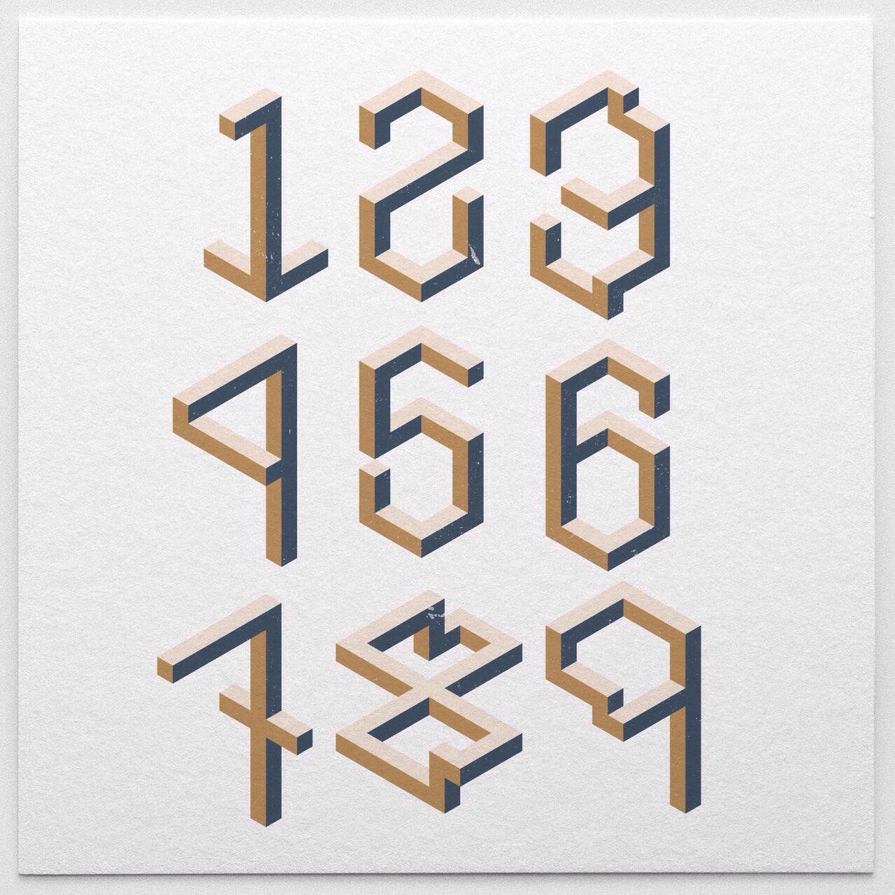 Isometric Numbers | Manolo Frausto | Typography, Isometric ...