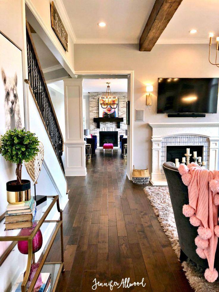 Info's : Our Flooring Makeover with {pre-stained} Dark Hardwood Floors | Jennifer Allwood #hardwoodfloors #floors #diy #diyhomedecor #howto #makeover