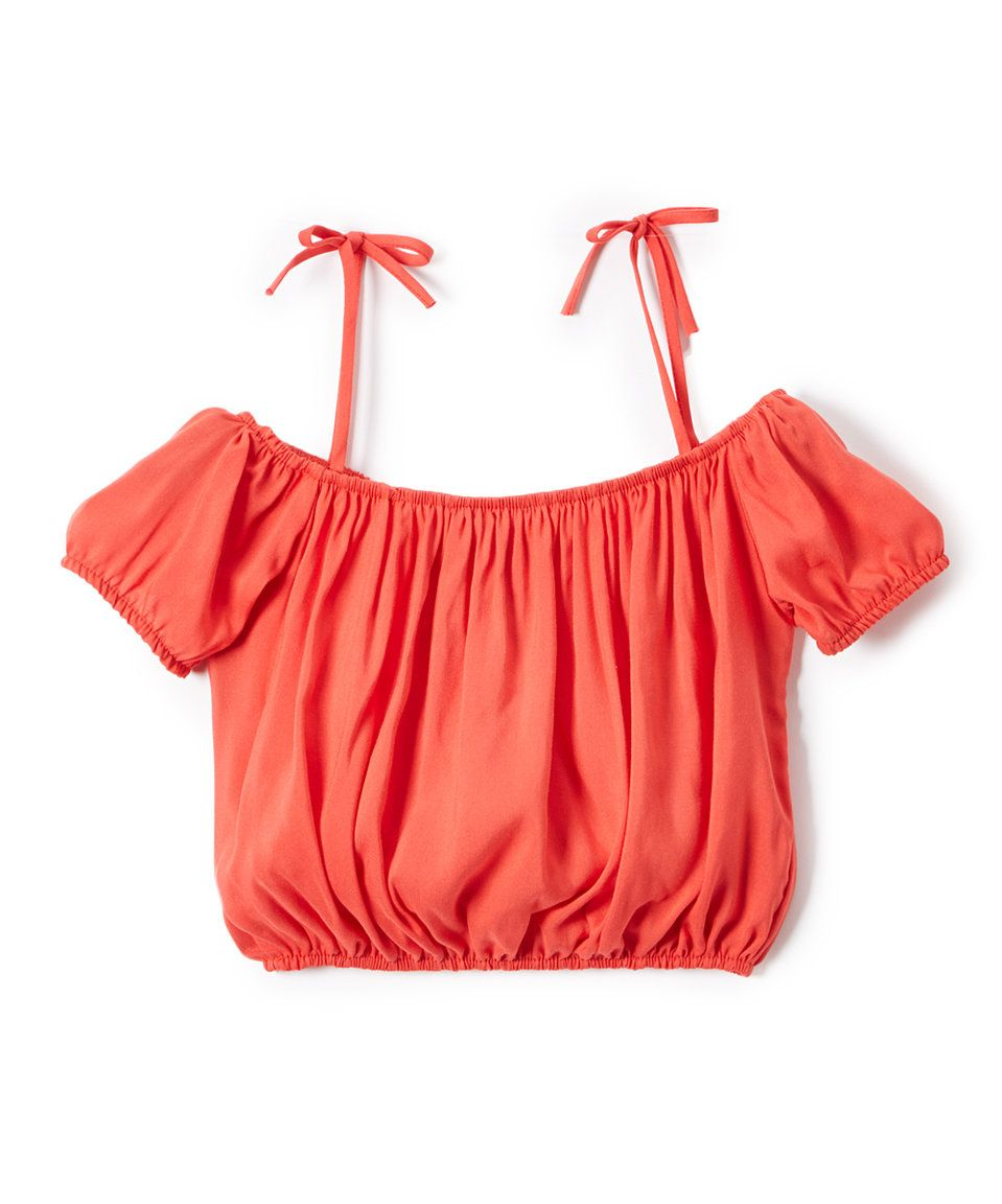 3f56527b1 Take a look at this Sinai Kids Coral Off-Shoulder Peasant Top - Toddler &  Girls today!