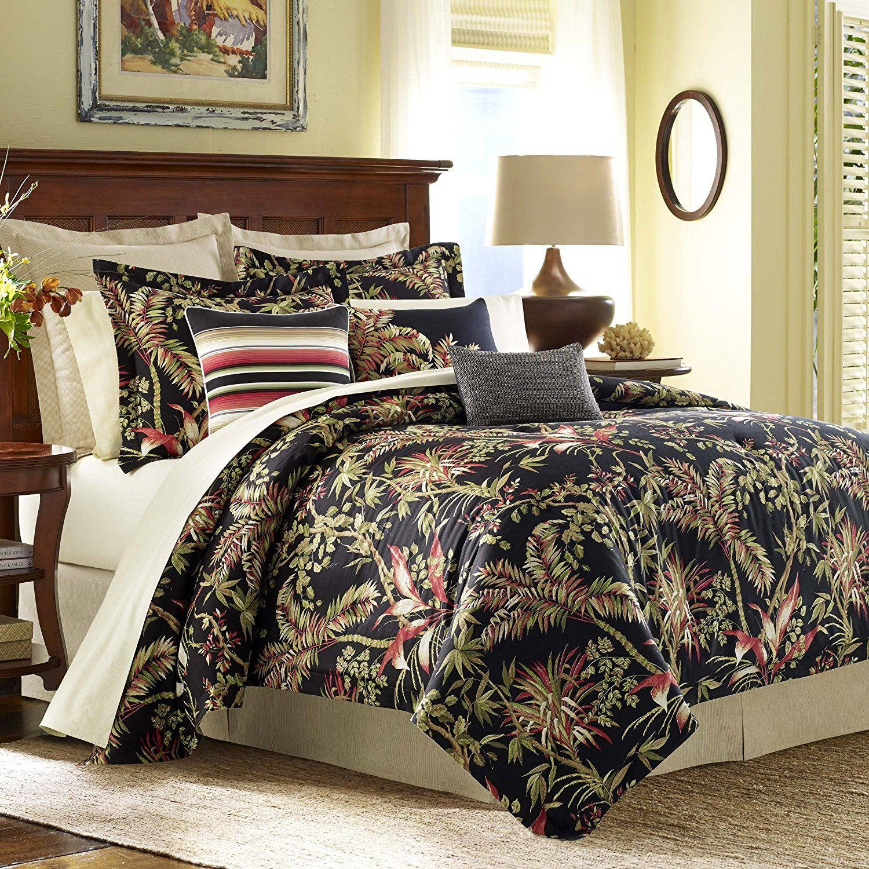 Tommy Bahama Jungle Drive Comforter Set Queen Black Home Decors