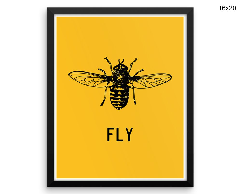 Fly Prints Fly Canvas Wall Art Fly Framed Print Fly Wall Art Canvas ...