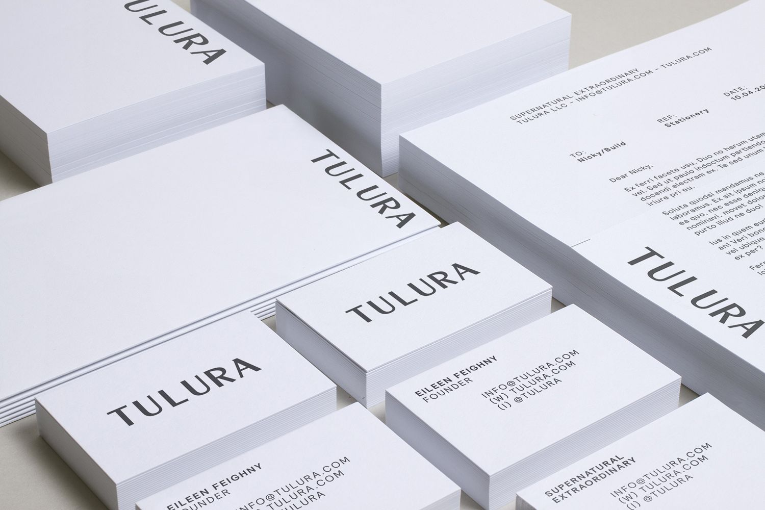 New brand identity packaging design for tulura by build bpo brand identity and stationery by leeds based design studio build for new york skincare brand reheart Image collections