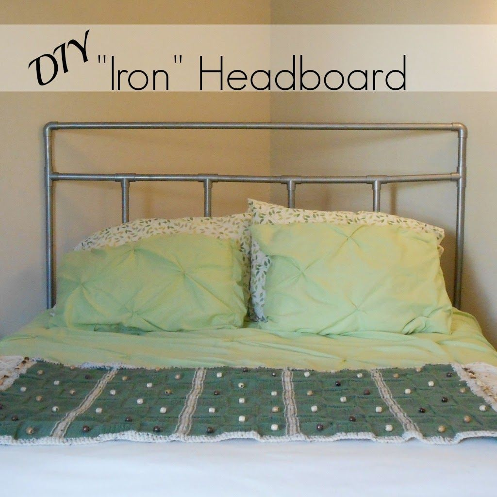 "Pvc Bed: ""Iron"" Headboard (trickery). Make A Simple Headboard From"