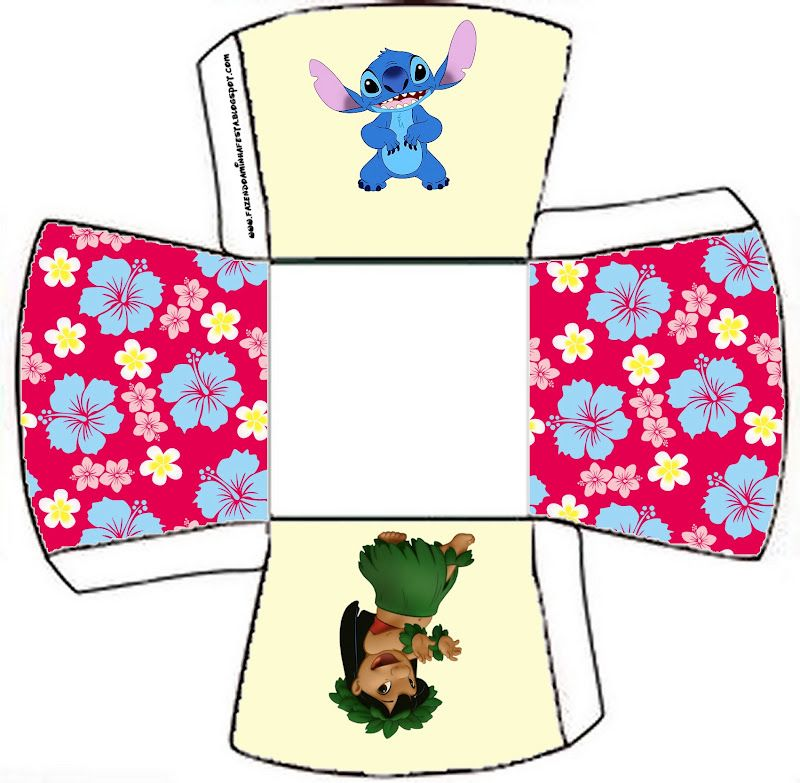 Lilo And Stitch Birthday Banner Lilo And Stitch Baby: Lilo And Stich: Free Printable Party Boxes.