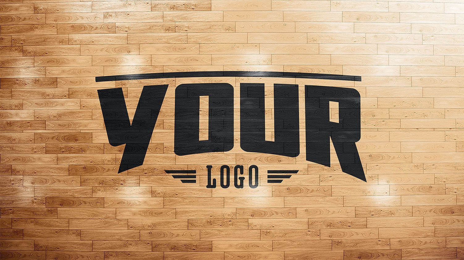 Basketball court Wooden floor photoshop PSD mockup template | Sports ...