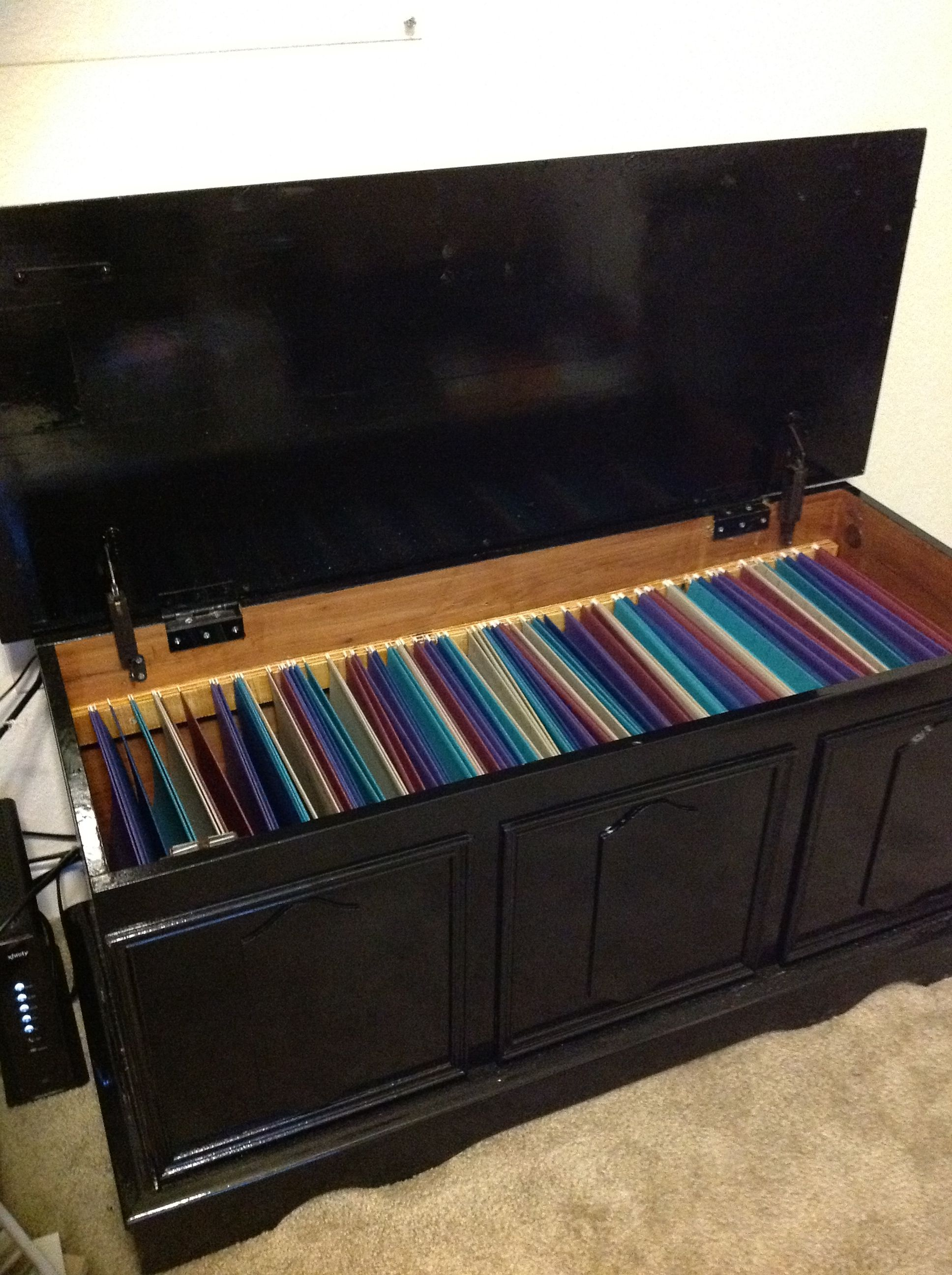 Strange An Old Hope Chest Turned Into A Filing Cabinet Took Forever Beutiful Home Inspiration Aditmahrainfo
