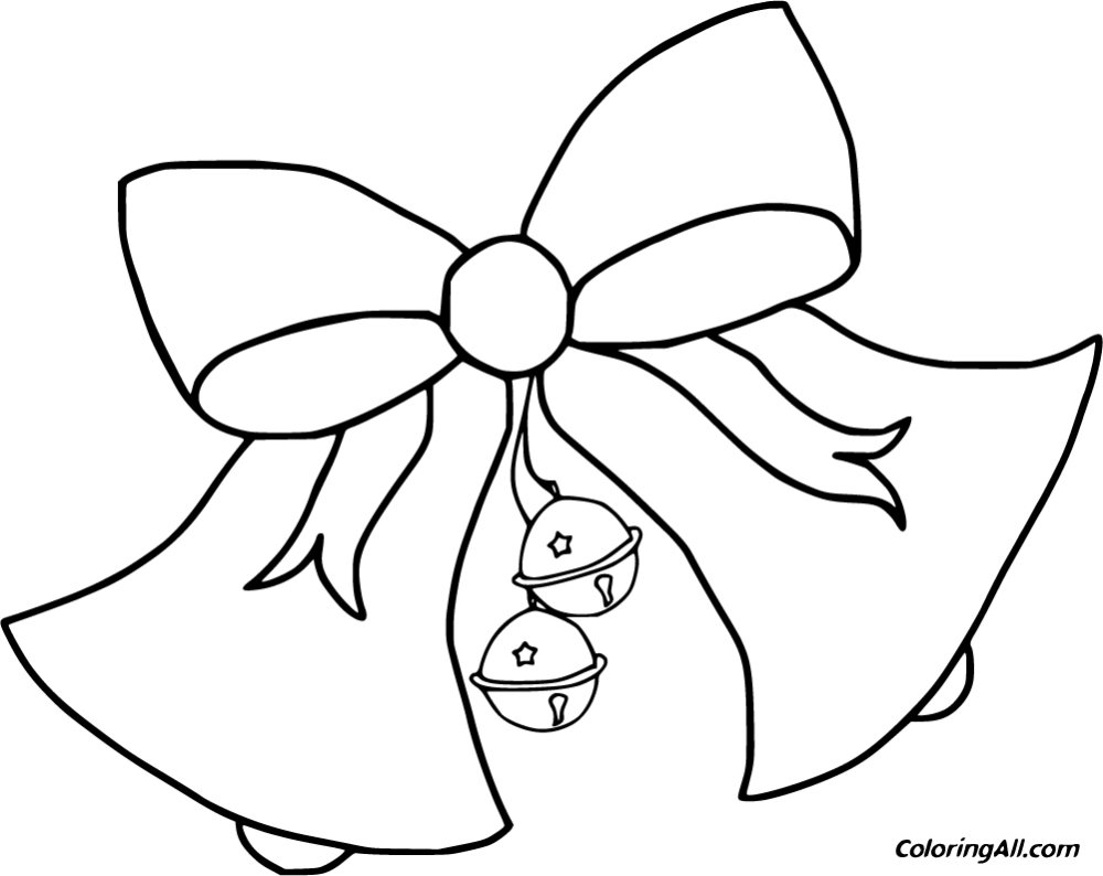 Free Printable Christmas Bells Coloring Pages Images