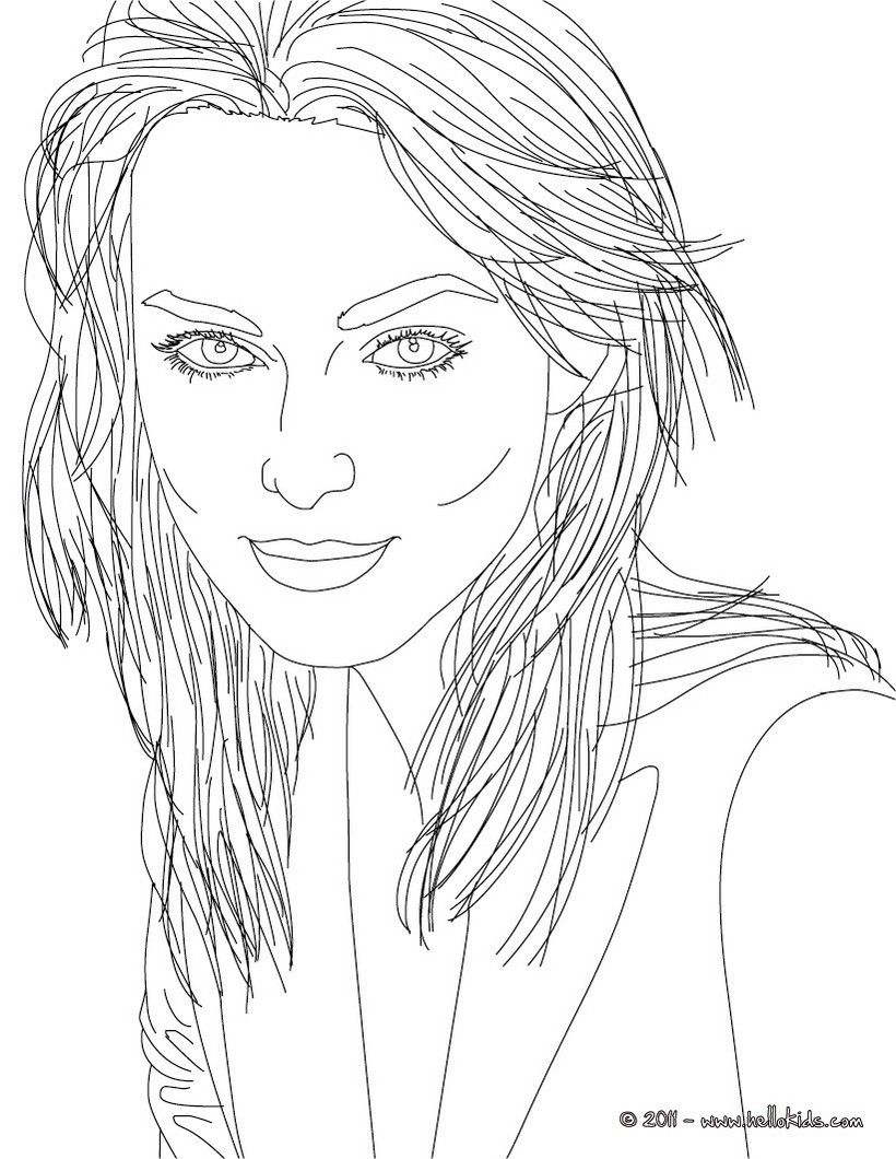 Miss Keira Knightley coloring page. More famous people