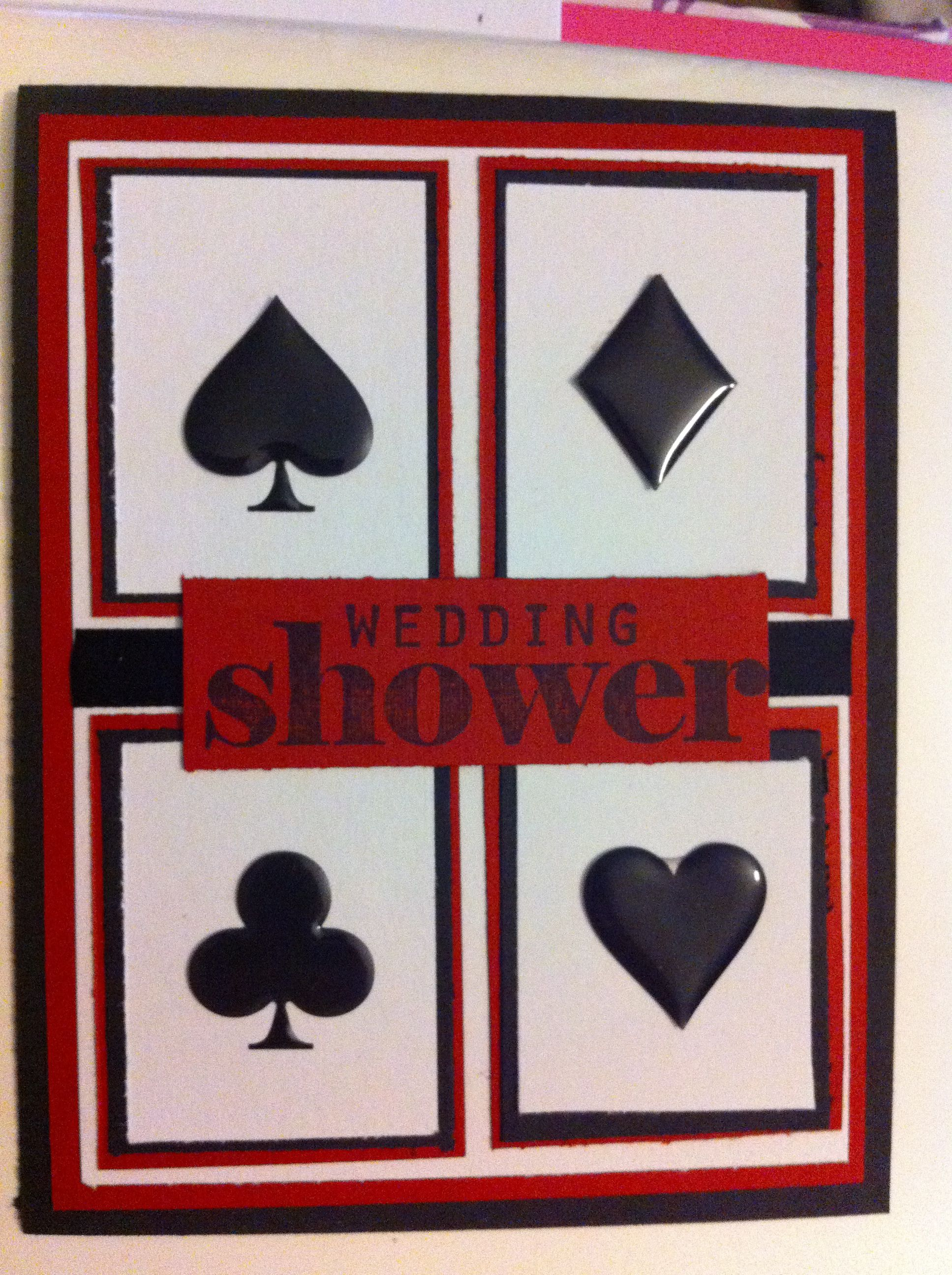bridal shower invitation for a girl friend vegas themed engagement parties throw a party