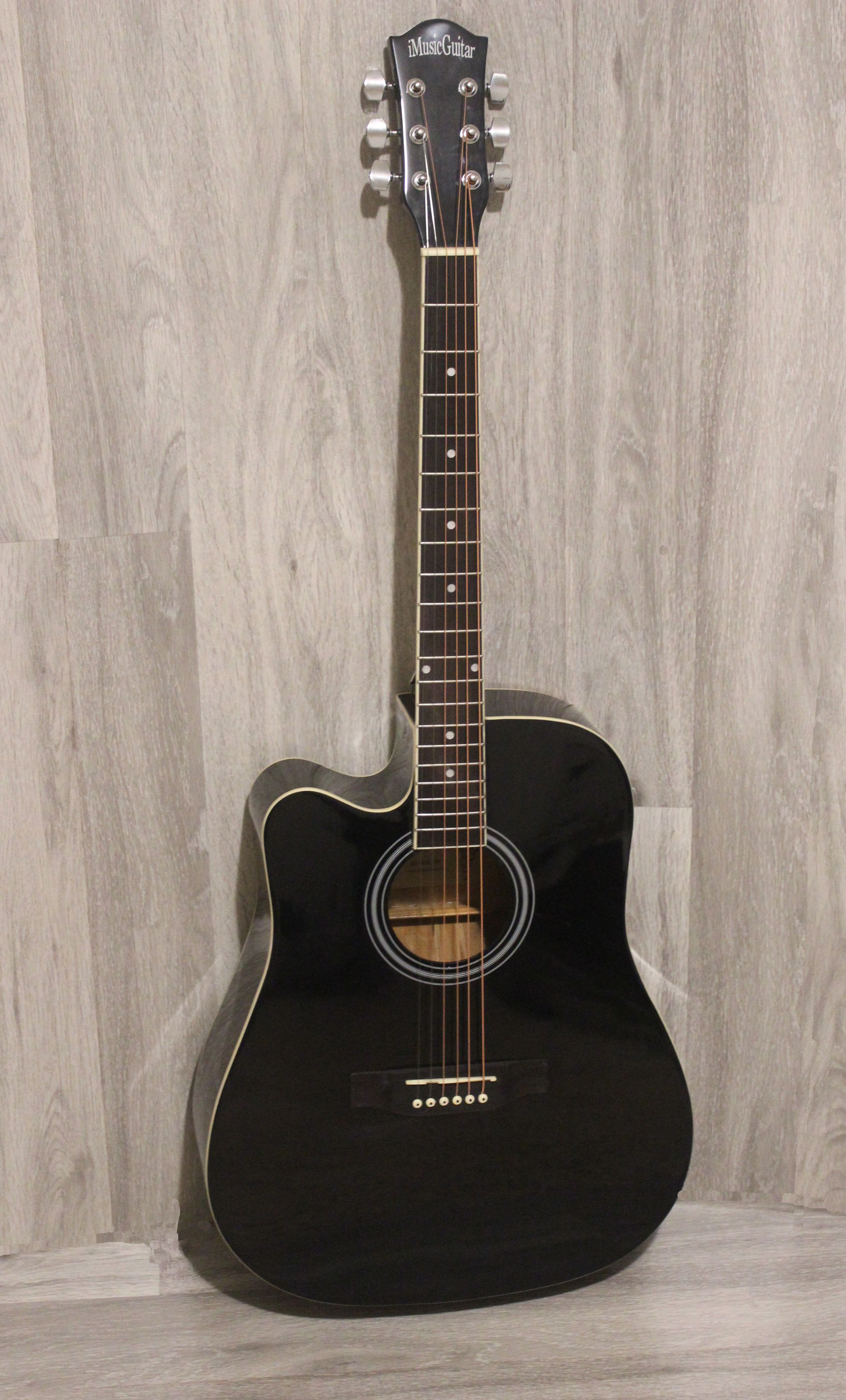 Left Handed Acoustic Guitar Black 41 Inch Full Size Cutaway Imusic810lf Left Handed Acoustic Guitar Acoustic Bass Guitar Acoustic Guitar