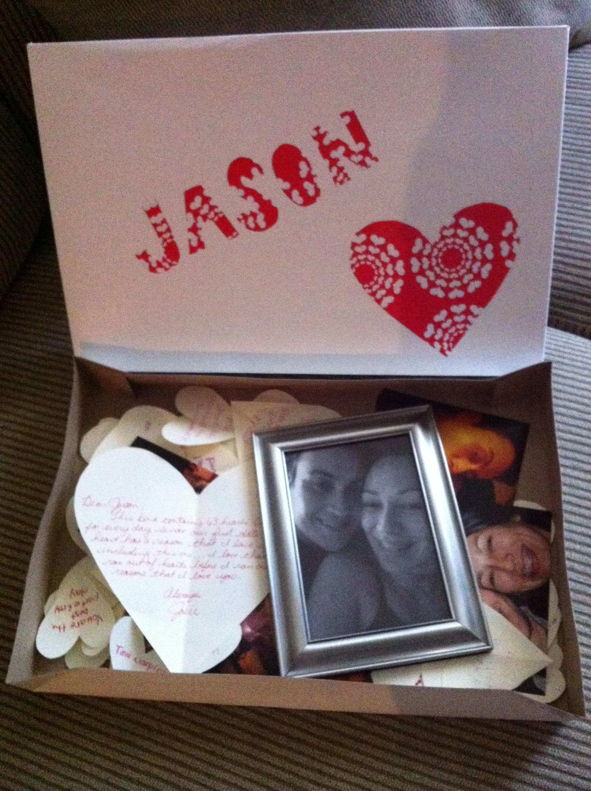 A love box (: id make mine more cute but its a good gift for him ...