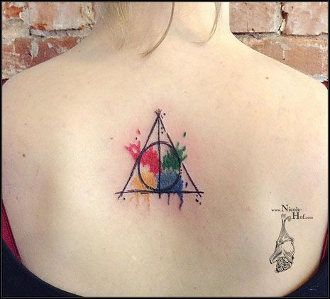Front Page Tattoos First Tattoo Deathly Hallows Tattoo