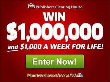 Winner Publishers Clearing House. a day for life10\25\19 A