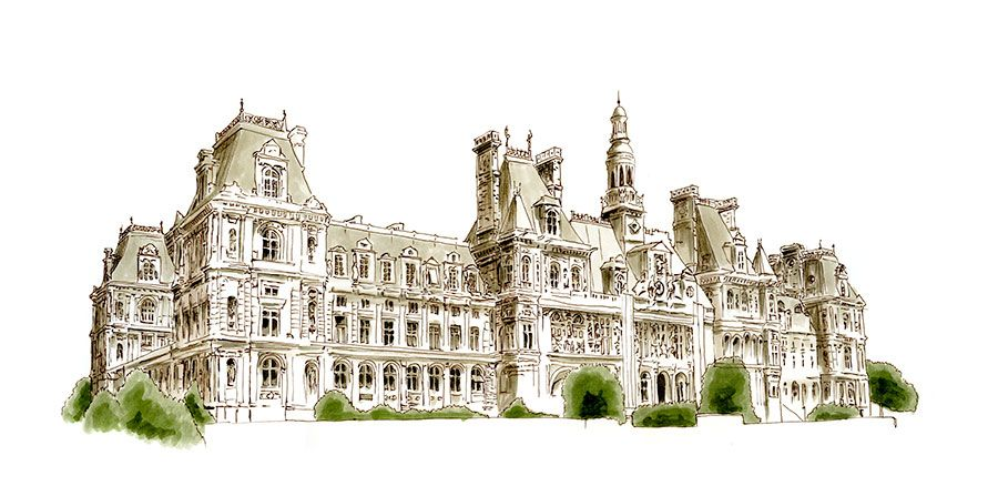 Paris Sketches | Paris Sketch Giornale | Viaggi Illustrazioni da Parigi, Francia