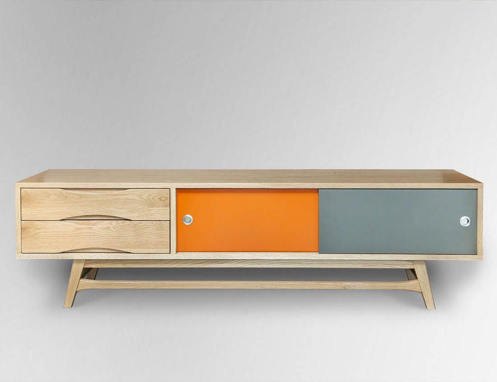 Retro Scandinavian Oak Tv Cabinet 180l X 45w X 50h Modern Danish Furniture Retro Tv Stand Tv Stand Designs