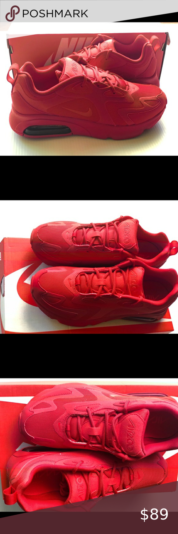 Sold! Nike Air Max 200 red women's in 2020 | Red nike shoes ...