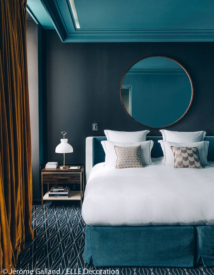 d couvrez le premier h tel de sarah lavoine chambres pinterest copper bedroom teal rooms. Black Bedroom Furniture Sets. Home Design Ideas