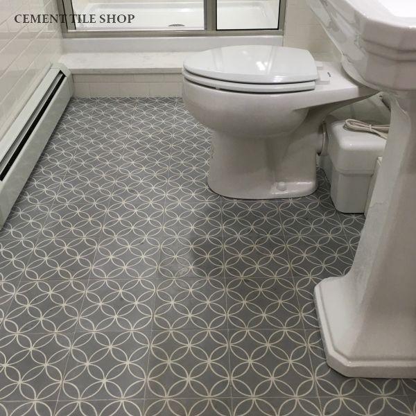 Cement Tile Shop Encaustic Cement Tile Nevis Grey Cement Tile