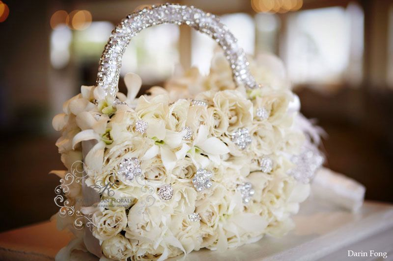 Very cute for a flower girl bouquet idea....she luv\'s her bling ...