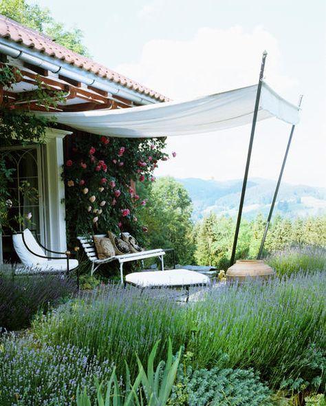 Trockenmauer Selber Machen Garten Terrasse Kiesweg: Sonnensegel Aus Stoff