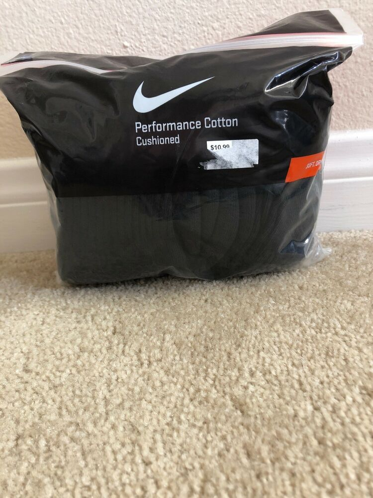 61e5570d70f Nike 6-Pair Men s Performance Cotton Quarter Crew Socks Large 8-12 Black -  1555  fashion  clothing  shoes  accessories  mensclothing  socks (ebay link)