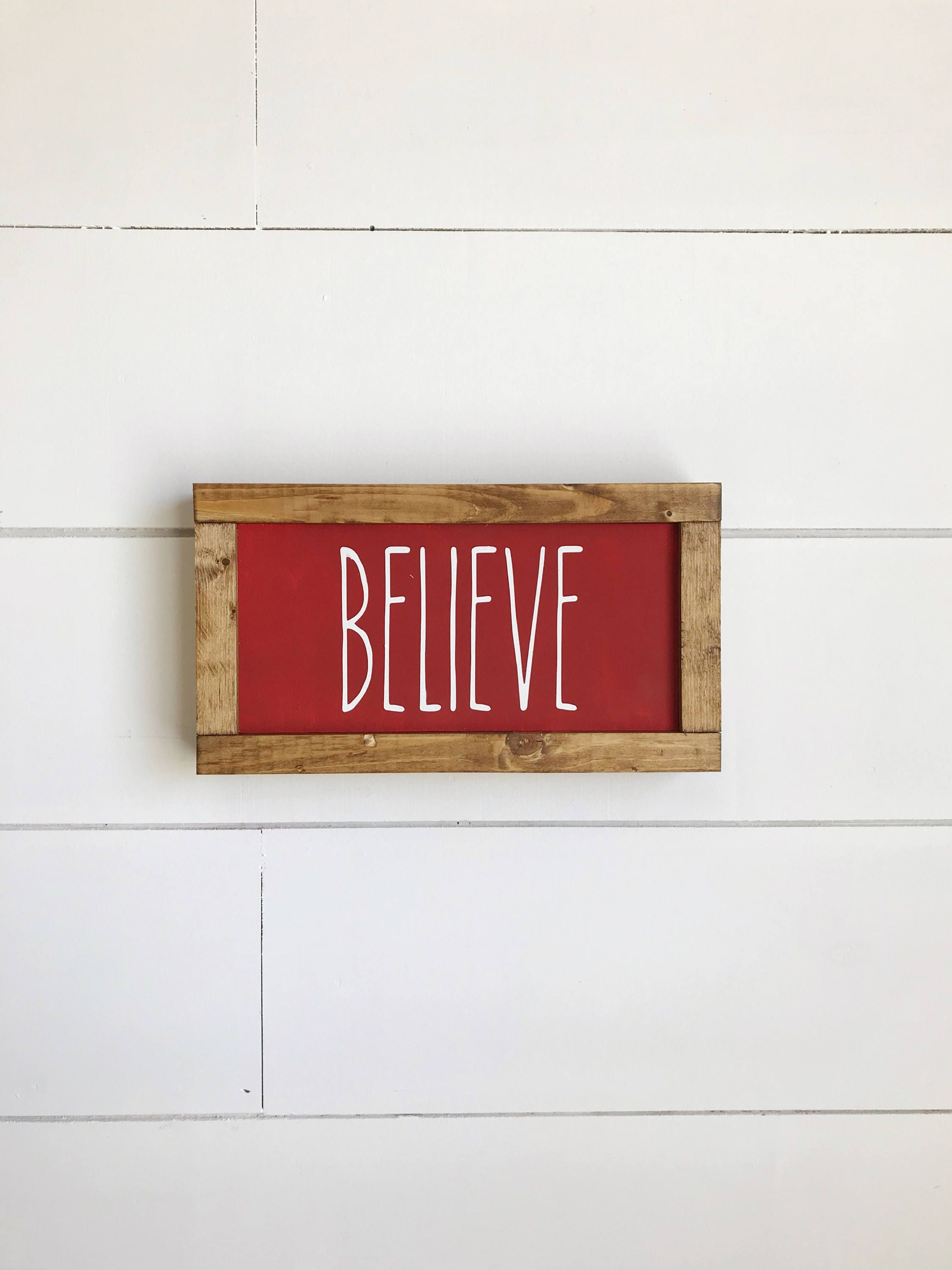 Believe Signs Decor Rae Dunn Inspired Believe Believe Sign Christmas Decor Wood Signs