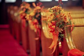 Pin By Jennifer Blank On Lindsey Wedding Pew Decorations