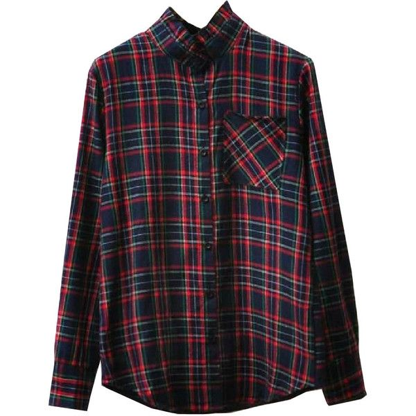 Long Sleeves Plaid Blouse With Ruffled Collar And Pocket ($22) ❤ liked on Polyvore featuring tops, blouses, shirts, flannels, plaid shirts, pocket shirts, ruffle collar blouse, extra long sleeve shirts and long-sleeve shirt