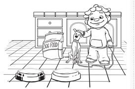 free coloring and activity pages sid the science kid free printables pinterest activities. Black Bedroom Furniture Sets. Home Design Ideas