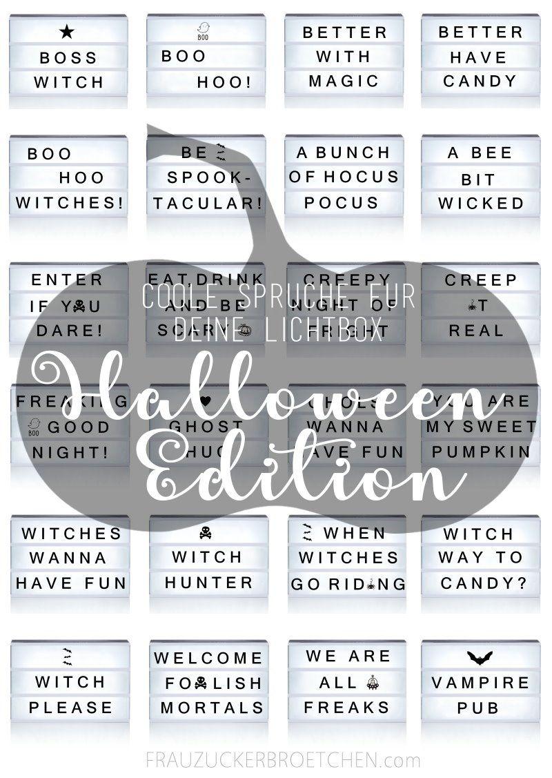 40 coole spr che f r deine lichtbox teil 3 halloween edition halloween quotes lightbox. Black Bedroom Furniture Sets. Home Design Ideas