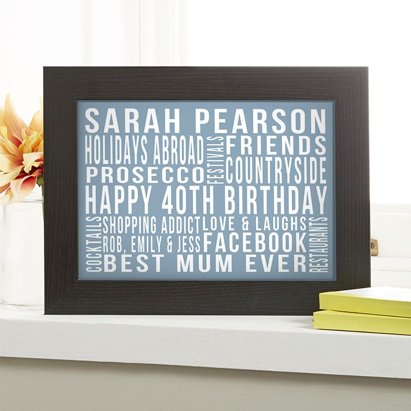 40th Birthday Gift For Her Of Favourite Things