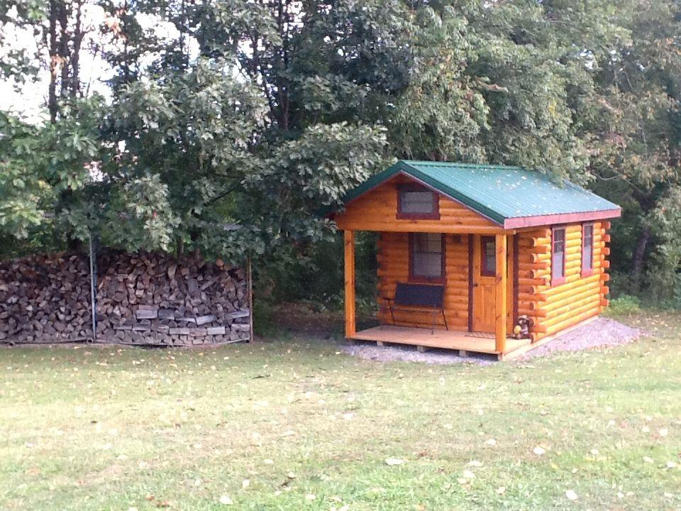 10x18 Hunter Log Cabin Delivered To Wampum, PA