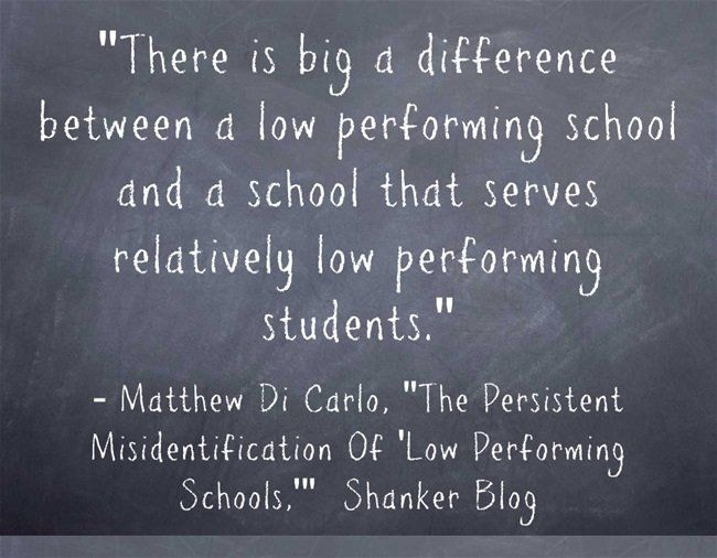 """Quote Of The Day: What Is A """"Low-Performing"""" School?"""