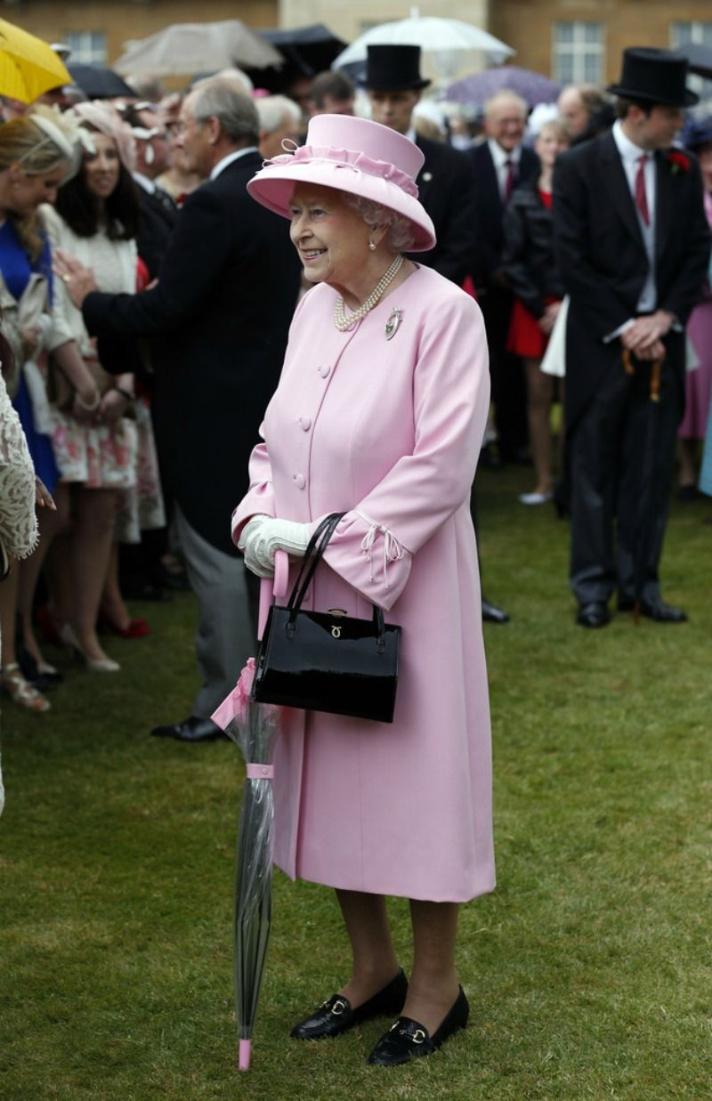 Queen Elizabeth and The Duke of Edinburgh Host a Garden Party-the Queen in the pink 5/30/13