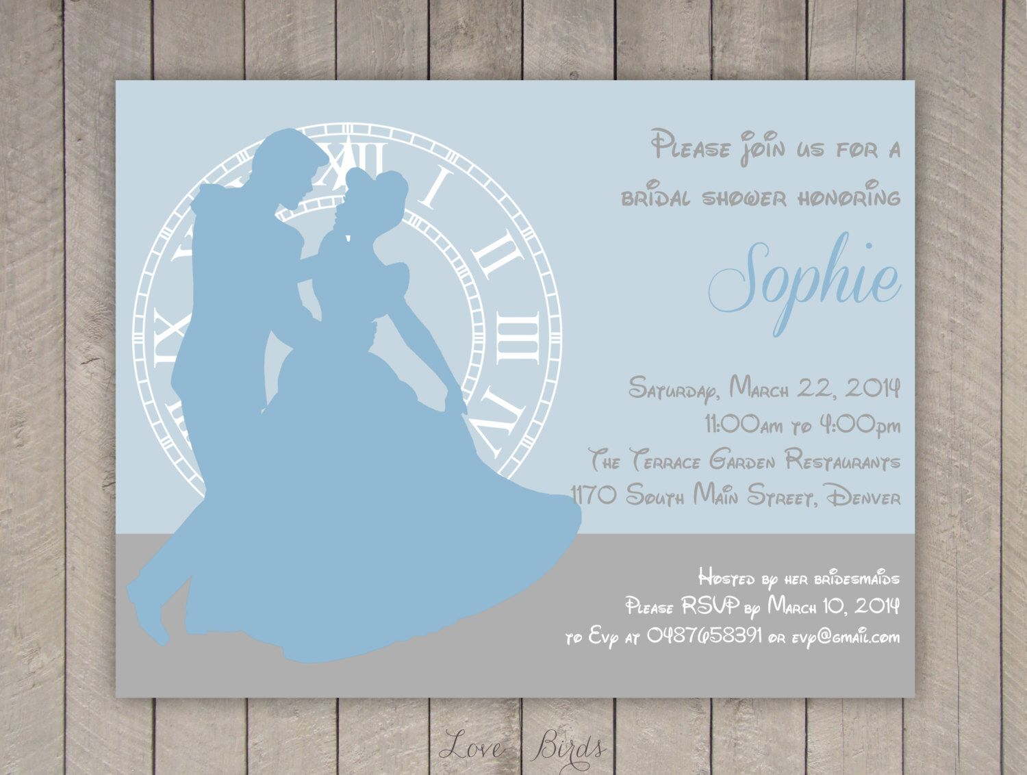 Bridal Shower Invitation, Personalize Get File Then Print On High Quality  Paper At Office Depot