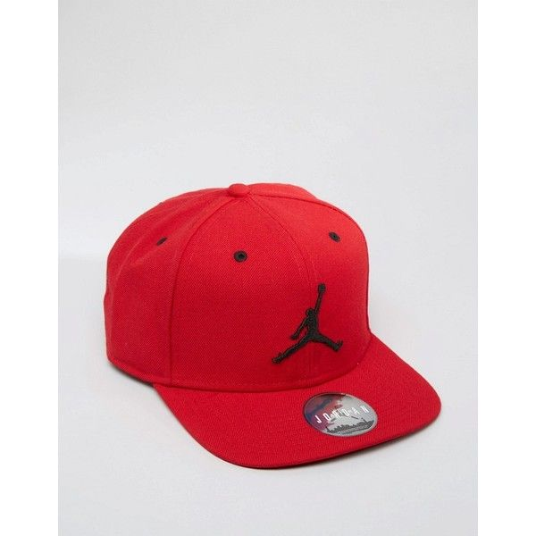 Nike Jordan Jumpman Snapback Cap In Red 619360-689 ( 32) ❤ liked on  Polyvore featuring men s fashion 7c6d86678e10