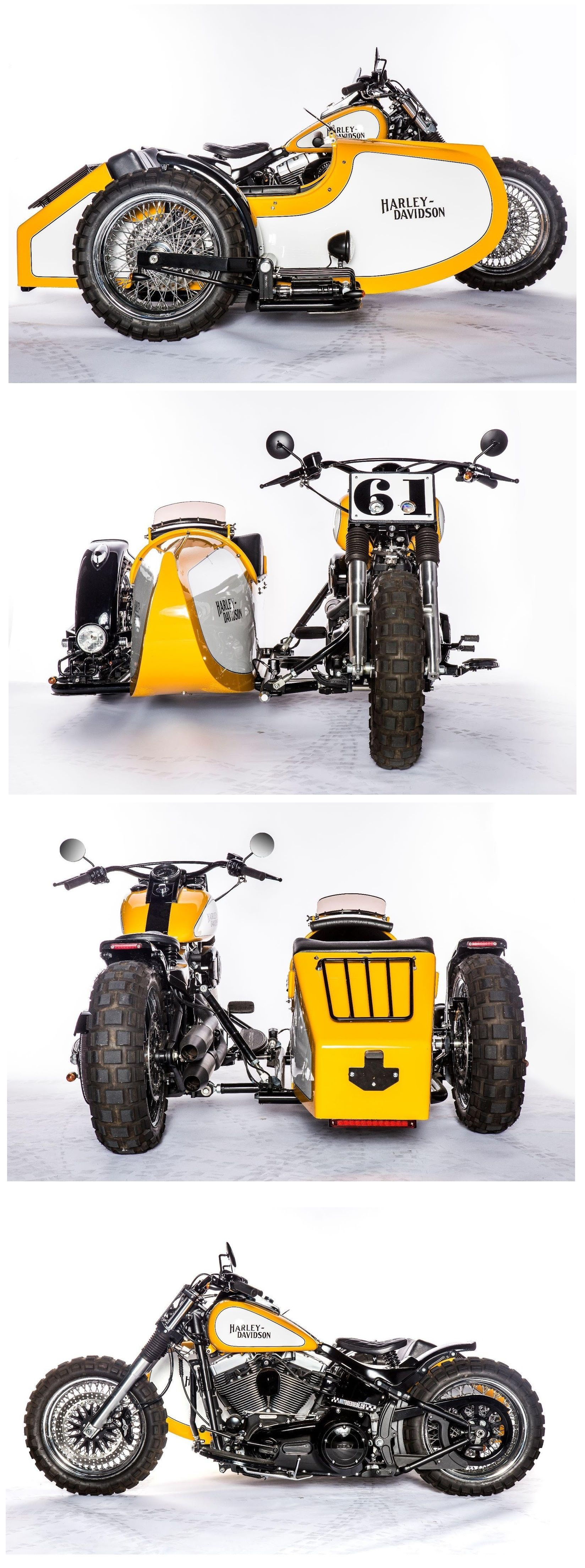 An awesome Harley Davidson Softail Fat Boy with a sidecar by ...